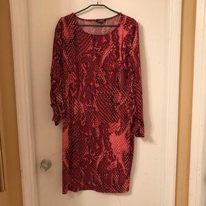 Snake skin dress (pink)